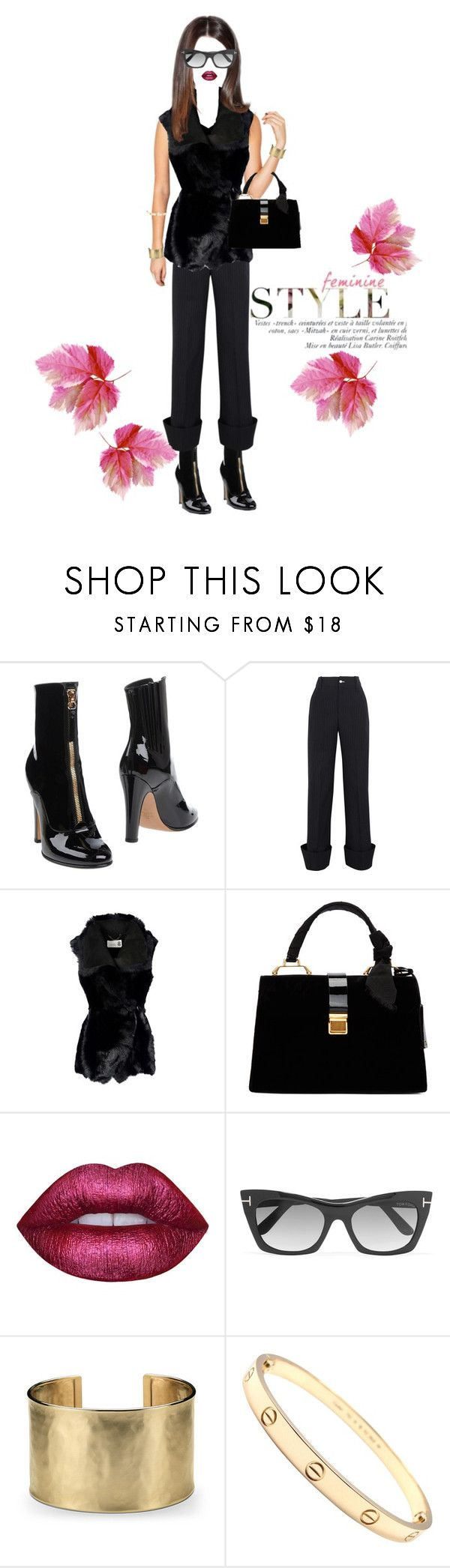 """""""Feminine Mystique"""" by shellygregory ❤ liked on Polyvore featuring Valentino, Jacquemus, 8, Miu Miu, Tom Ford, Blue Nile and Cartier"""