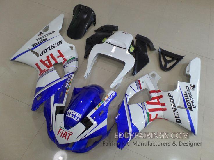1998-1999 FIAT Yamaha YZF-R1 Valentina Rossi MotoGP Team Motorcycle Fairing Kit  www.eddyfairings.com