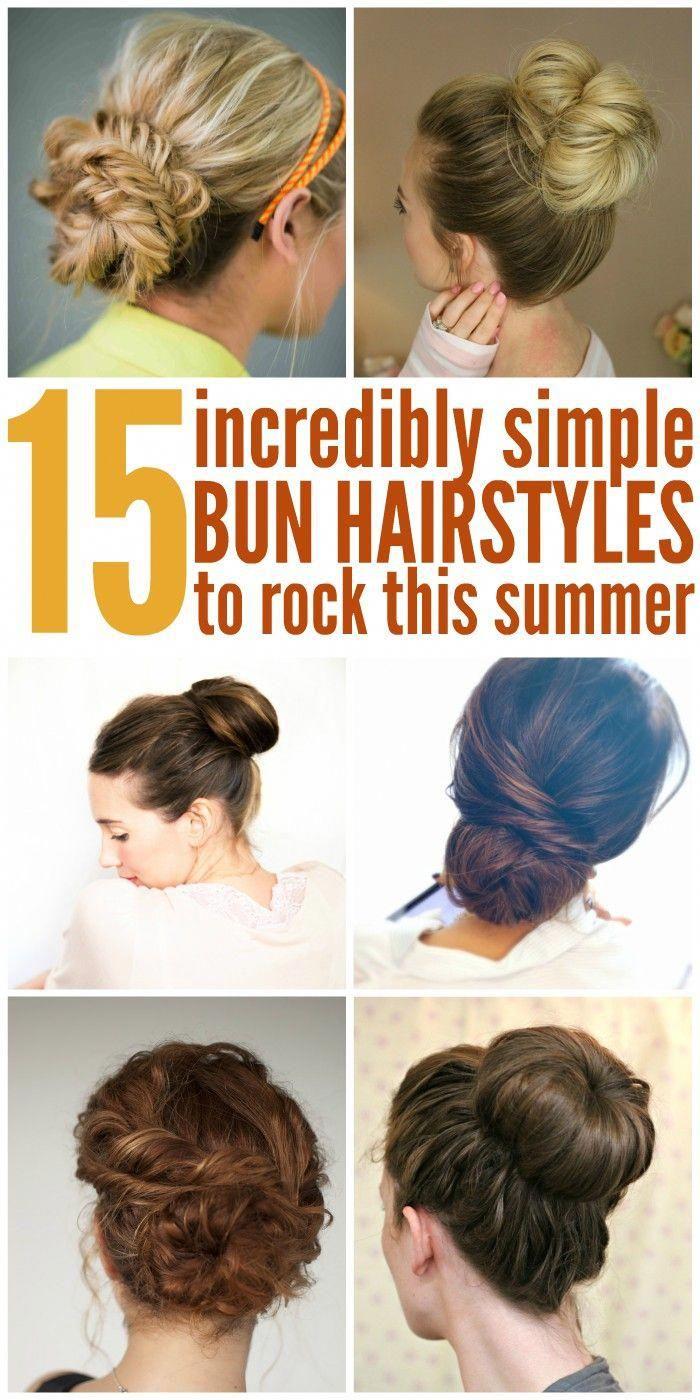 12 Easy Bun Hairstyles to Rock This Summer #easylonghairstyles