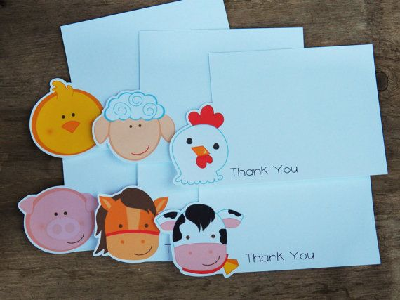 Farm Birthday Party  Set of 8 Farm Friends by TheBirthdayHouse, $8.00