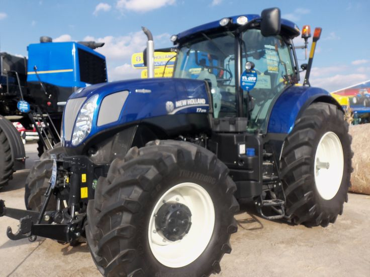 Blue Holland Tractors : Dark blue new holland t farm equipment