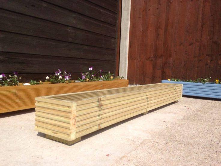 120cm/4ft long Window Box/Trough/Garden Planter/Wooden Decking/Herb/Flower in Garden & Patio, Plant Care, Soil & Accessories, Baskets, Pots & Window Boxes | eBay