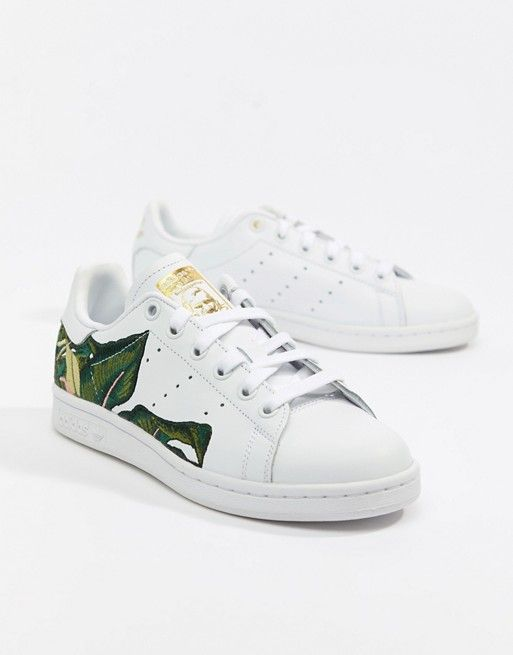adidas Originals Stan Smith Trainers In White With ...