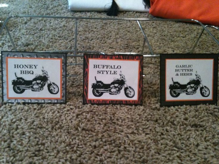 When my uncle turned 50 last year, my aunt asked me to help her throw him a party. We decided to it Harley Theme, since they have Harley's ...