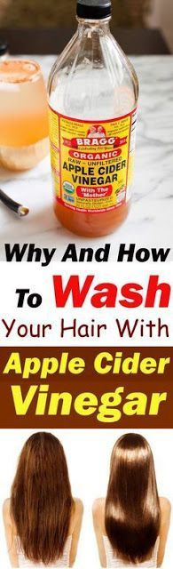 Why and How to Wash your Hair with Apple Cider Vinegar #scalpdetoxrecipes