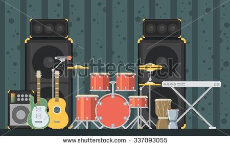 stock-vector-musical-instruments-vector-flat-illustration-337093055.jpg…