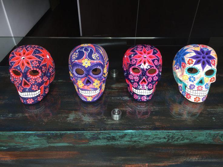 Calaveras Mexicanas Originales Pintadas a Mano @moddiza
