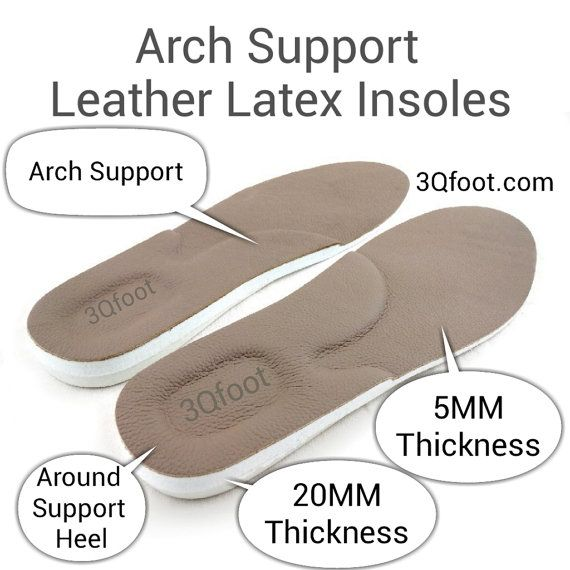Arch Support Leather Latex Insoles leather shoe by footpainrelief