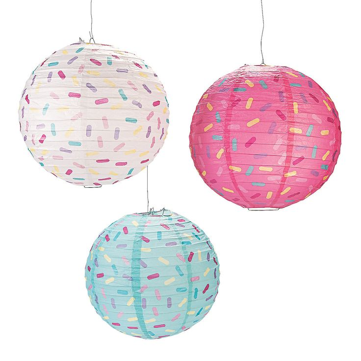 Donut Party Paper Lanterns - OrientalTrading.com