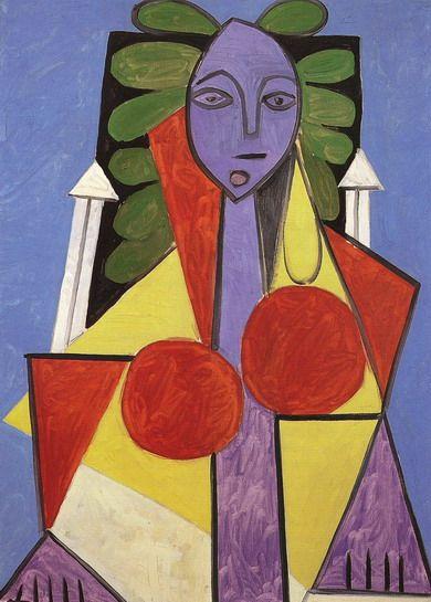 Pablo Picasso - Woman in an Armchair(Françoise Gilot), 1946