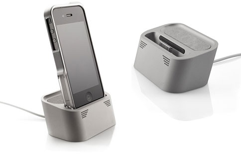 Element Case Vapor Dock Charges your iPhone and Amplifies Sound - Small speakers, Big sound