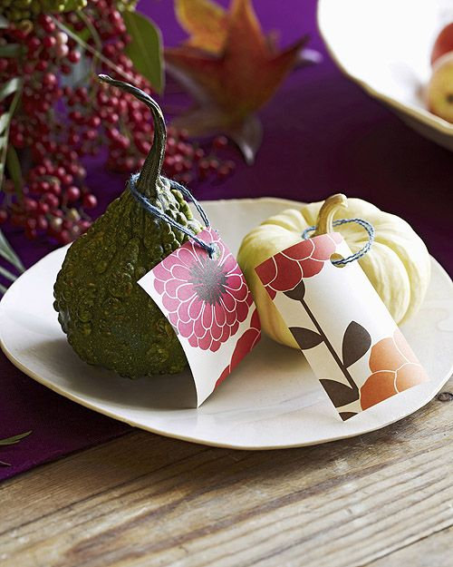 Lub! Thanksgiving table place cards