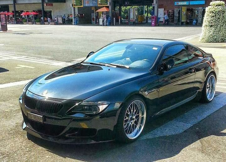 BMW E63 6 series coupe with body kit and custom rims