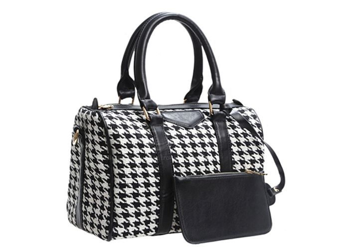 Casual Women's Tote With Bucket Shape PU Leather Checked Design (CHECKED) China Wholesale - Sammydress.com