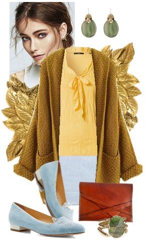 Золотисто-коричневый цвет в одежде