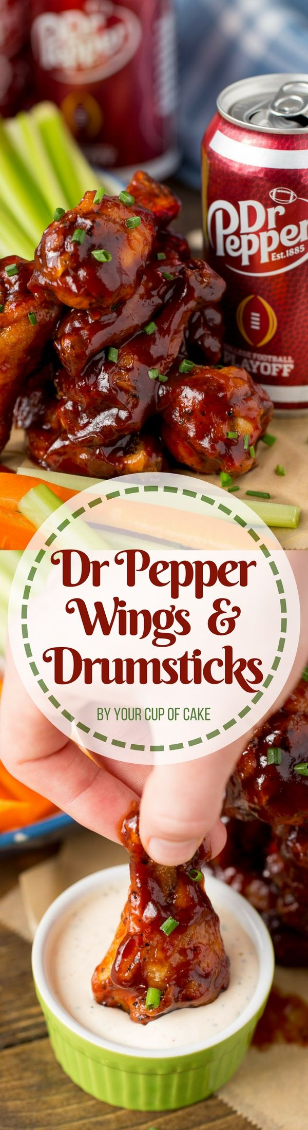 Dr Pepper Wings and Drumsticks is the perfect game day party food! This Dr Pepper BBQ sauce recipe is awesome!