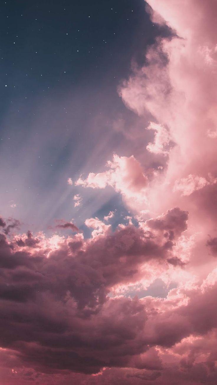 iphone fondo de pantalla Nubes rosas