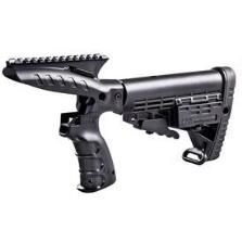 Command Arms Accessories Mossberg 500 Pistol Grip with Rail and Stock Polymer Black with Recoil Reduction CMGPT500