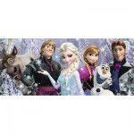 Puzzle Panoramique 200 pièces XXL : La Reine des Neiges (Frozen) : Arendelle sous neiges éternelles