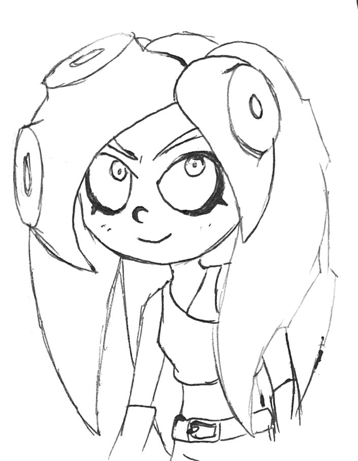 Splatoon squid coloring pages coloring pages for Splatoon coloring pages