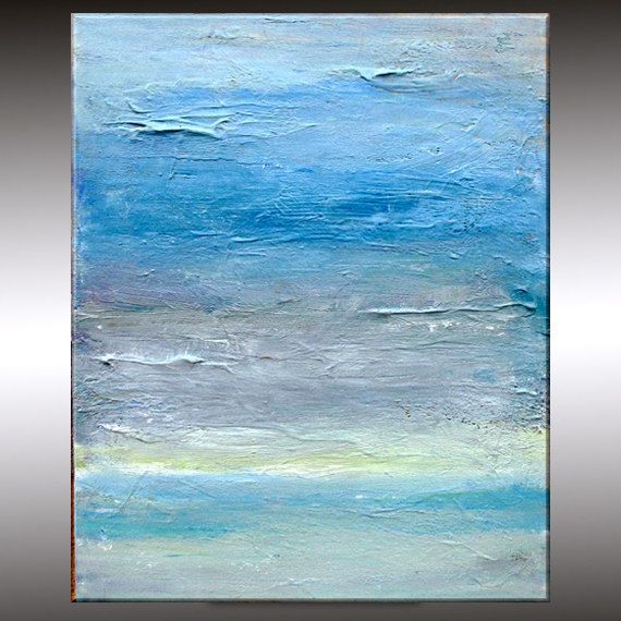 Impressionistic Seascape Original Abstract Painting  by LoriMarie, $130.00