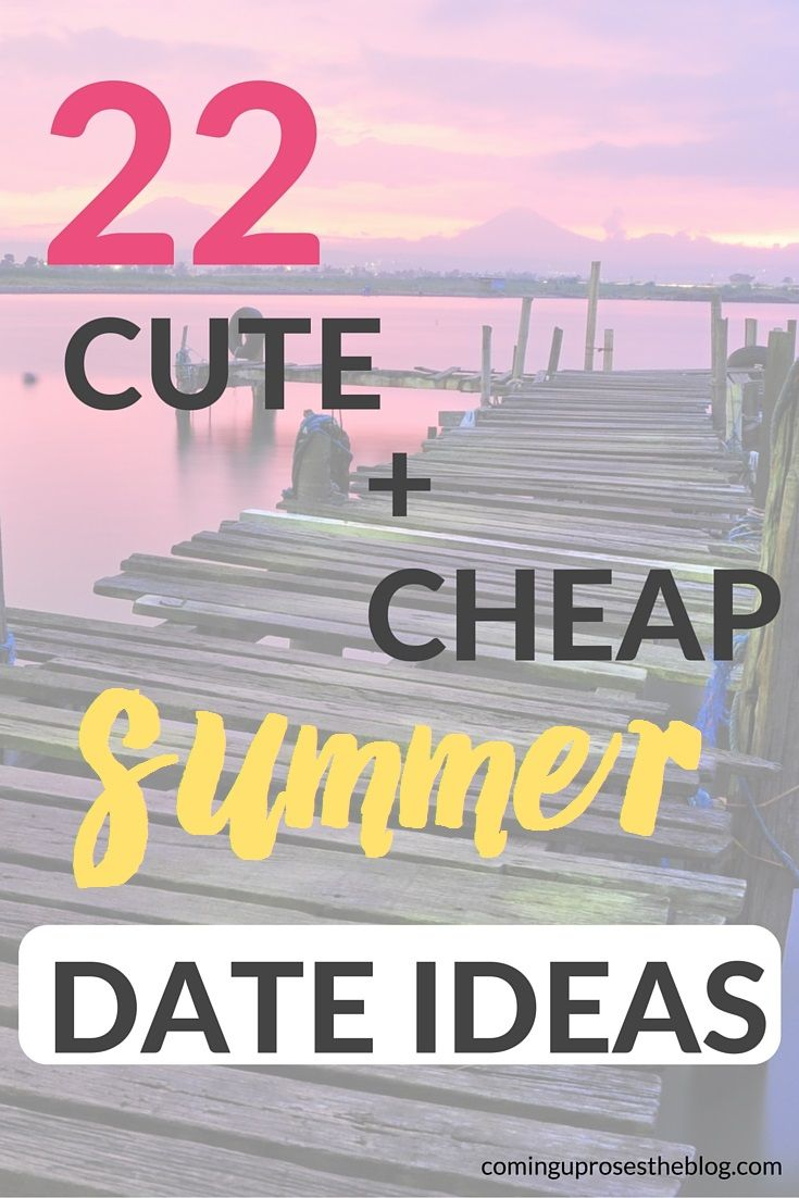 Author Chrissy Stockton shares with us 50 cheap date ideas. 1. Cheer on an amateur sports team in your city. It's just as fun as supporting a Real Team but tickets are dirt cheap. My city's non-pro baseball team has a few dates during the summer where tickets are $5 and they have $1 beers all.
