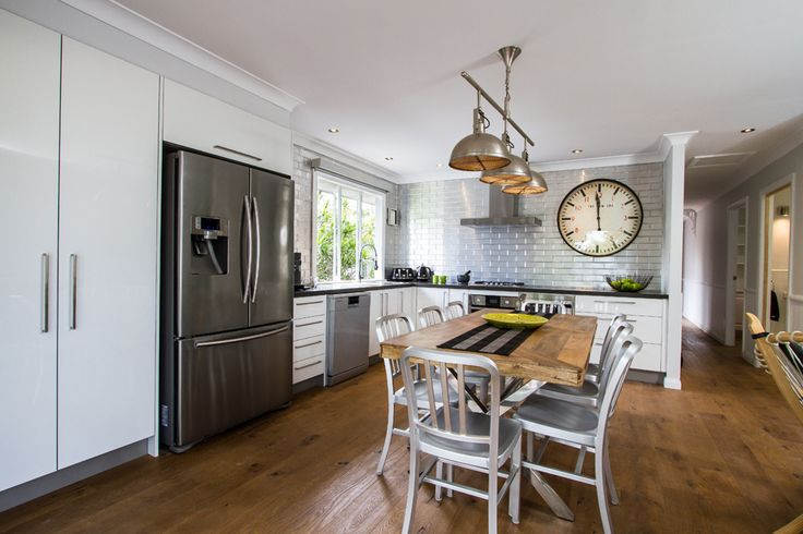 Kitchen from House Rules TV show, this kitchen is bang for buck! Cant believe I now have the clock! The rest of the kitchen will come later!
