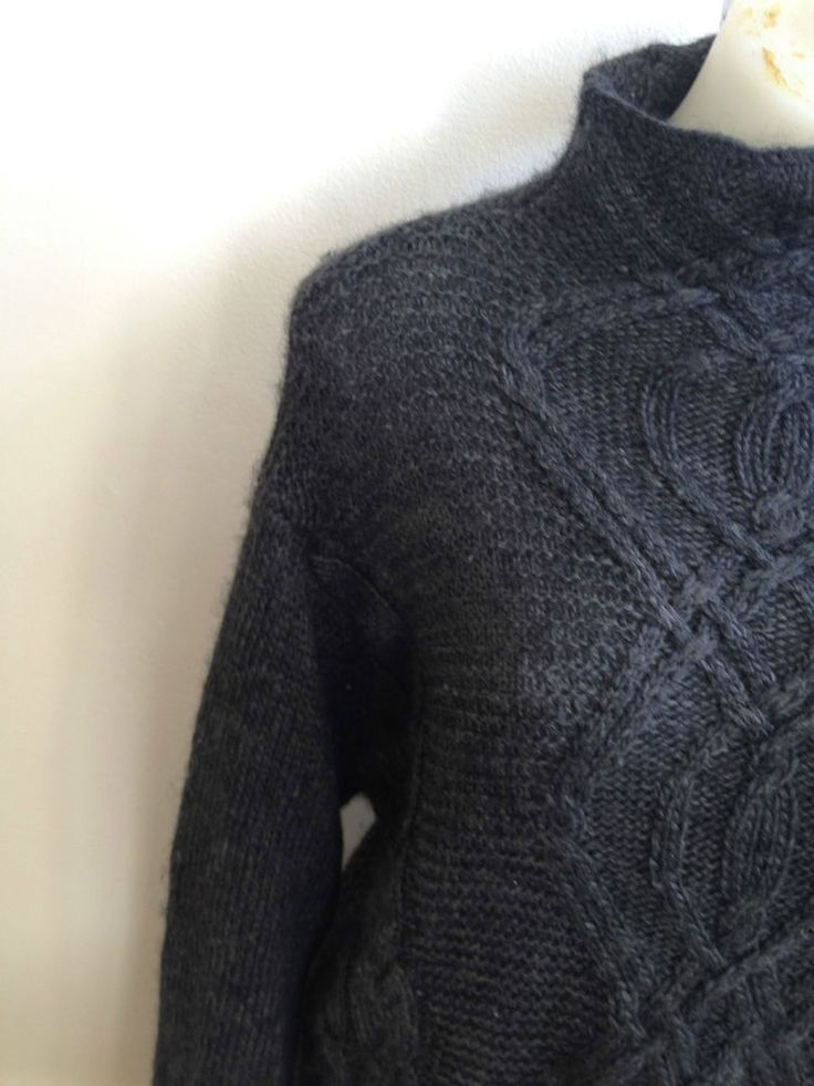 Ladies Piper Grey Alpaca Wool Knit Jumper - Small  Now Selling! Click through to go to eBay auction.