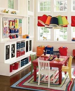 "bright white walls that let the toys be the ""pop of color"""