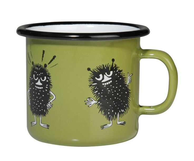 Muminboden - The shop for you hwo love Moomin! - Moomin enamel mug Stinky Retro (Small)