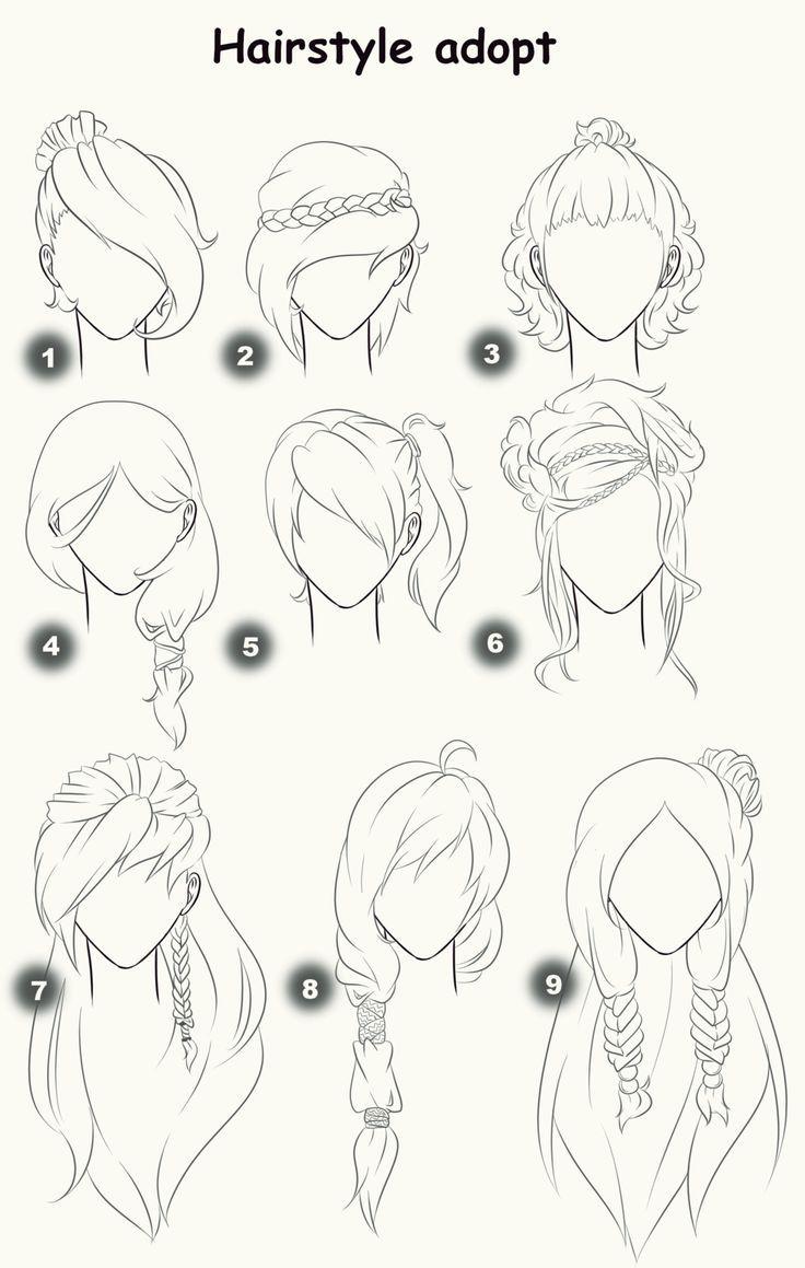 Excellent 1000 Ideas About Anime Hair Tutorial On Pinterest Short Hairstyles For Black Women Fulllsitofus