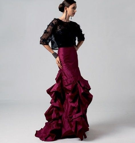 flamenco skirt | Vogue 8858 Flamenco Skirt Pattern
