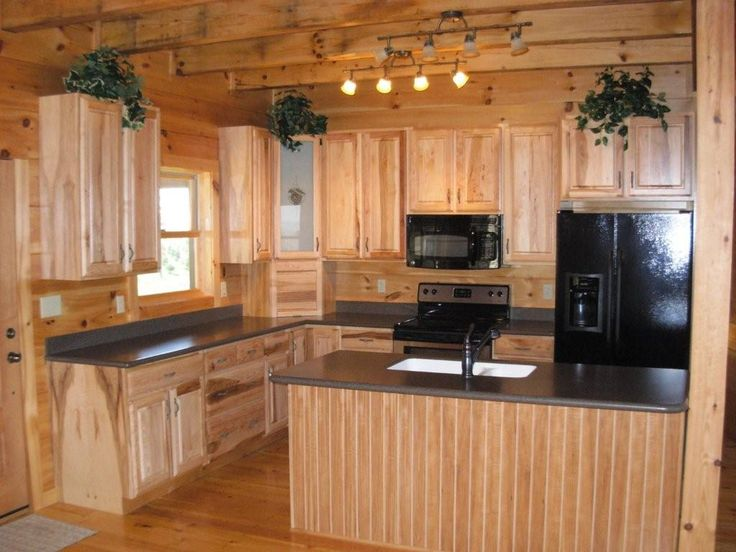 Rustic Small Kitchen Design Ideas | ... Design Ideas With Wooden Kitchen  Cabinet Marble