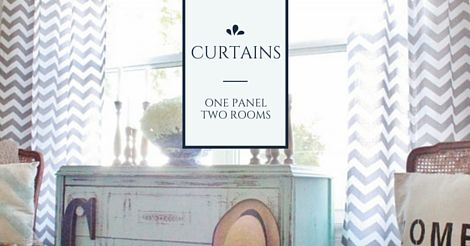 Can a simple curtain panel be used as a shower curtain? Blogger Colette Carrier certainly thinks so!