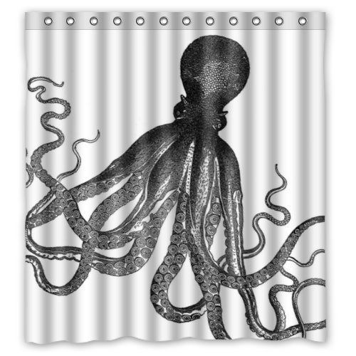 Custom Octopus Ocean Shower Curtain #Affiliate