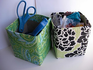 Craft room  Storage boxes from Kleenex boxes