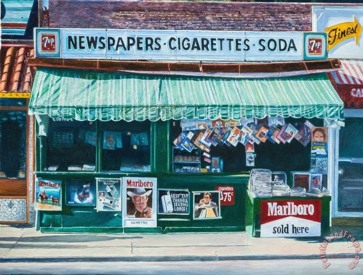 Newspaper Stand West Village Nyc Painting by Anthony Butera