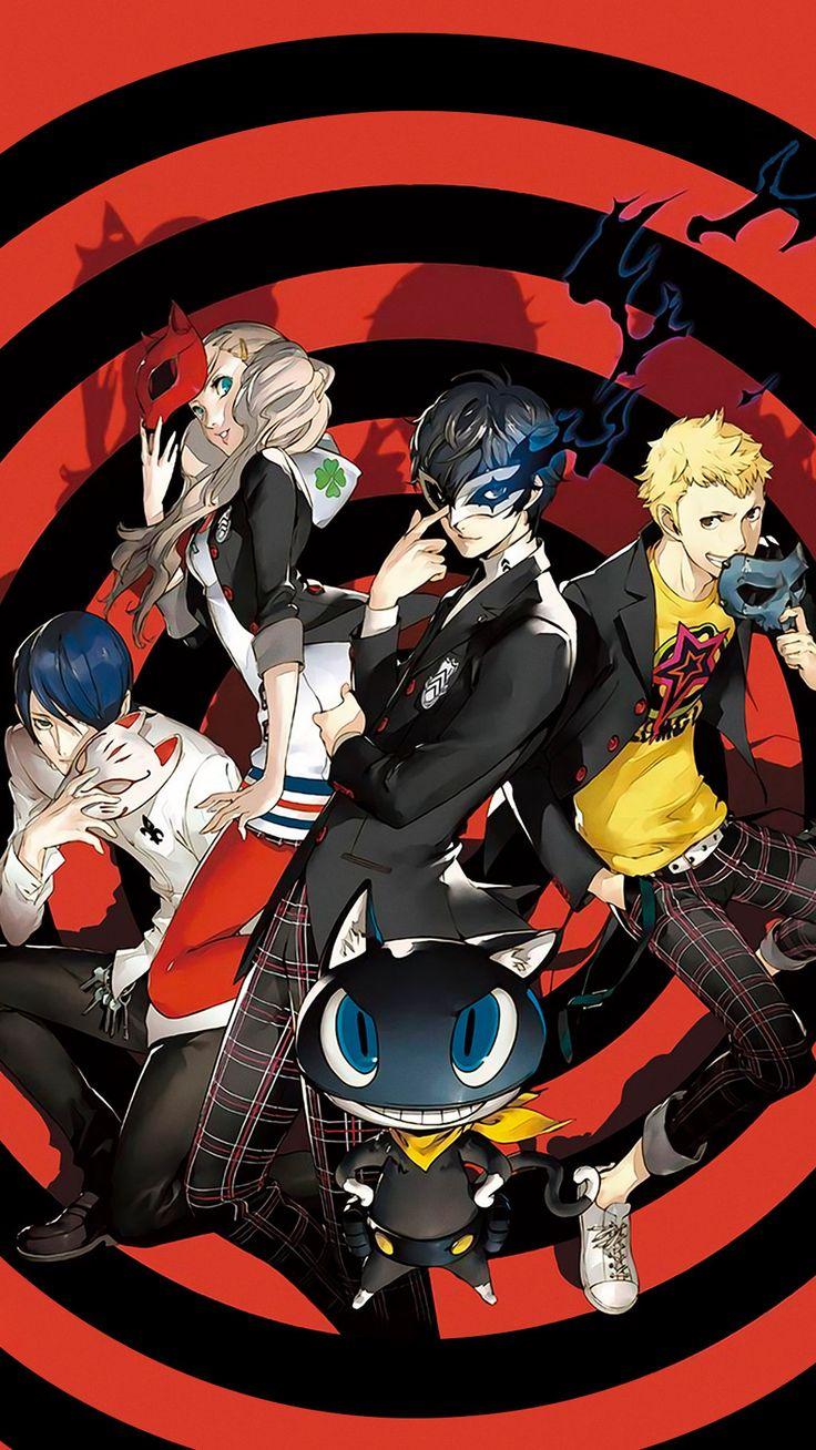 Persona 5 Protagonist, Ryuji, Ann, Yusuke, Morgana