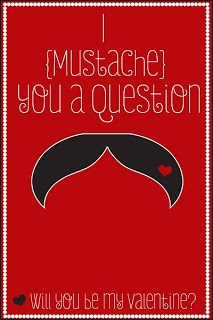 We are going to do this for school valentine's but we got fake mustaches to put on the card.    Amy Teets' Designs: Free Valentine's Day Printable Mustache Cards