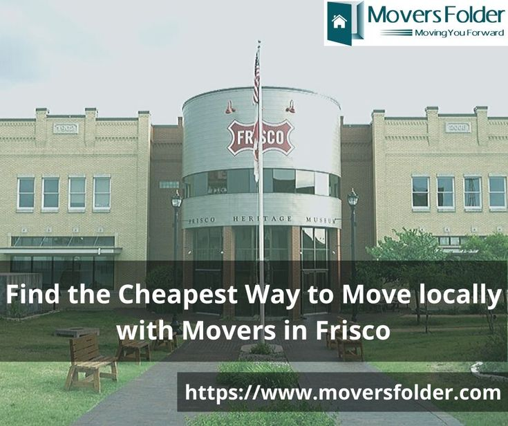 Find the Cheapest Way to Move locally with Movers in