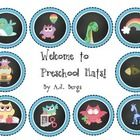 This is a set of Welcome to Preschool Hats.  This is a fun way to observe cutting skills on the first day of school....