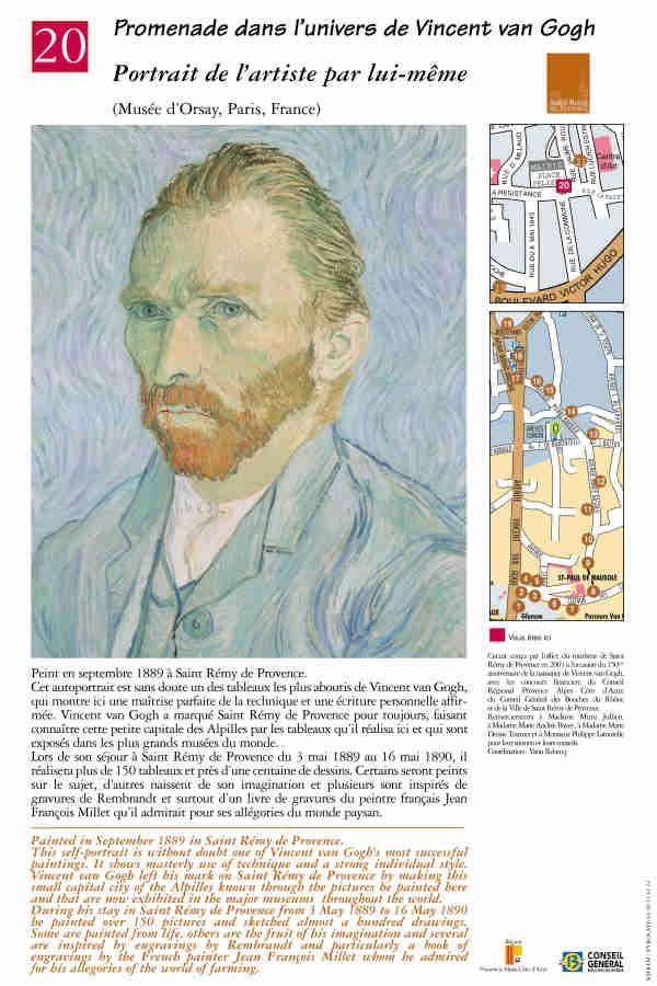 """Auto portrait"" #peinture #provence #vangogh #saintremydeprovence"
