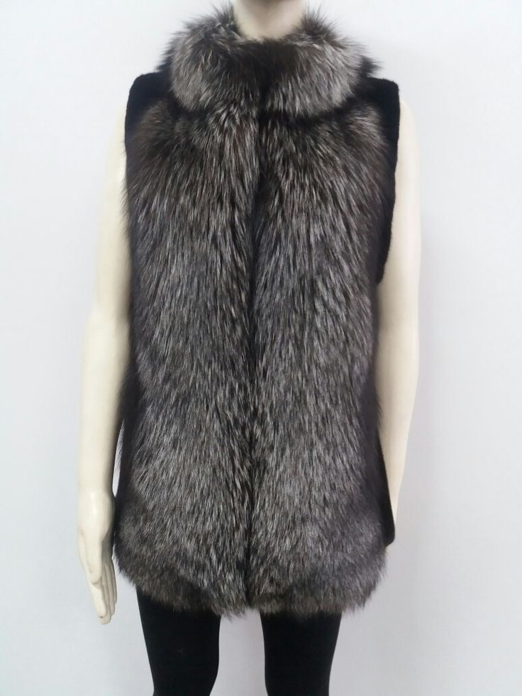 Vest from Real fox fur and mink fur