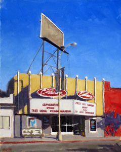 "New Beverly Cinema by Dan Graziano Oil ~ 20"" x 16"""