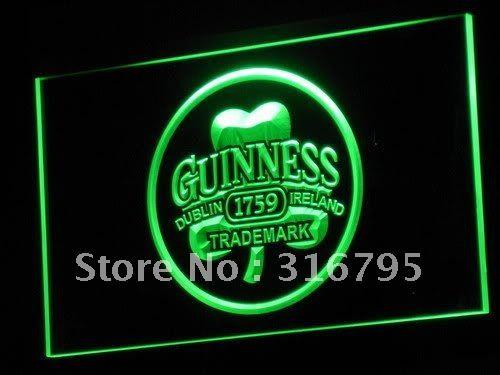A111-g Дублин Ирландия Guinness Beer Bar LED Знак Неонового Света Оптовые Dropshipping На/Выключения 7 цветов DHL