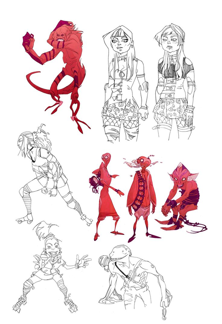 Best Character Design Portfolio : Best character posing and sheets images on