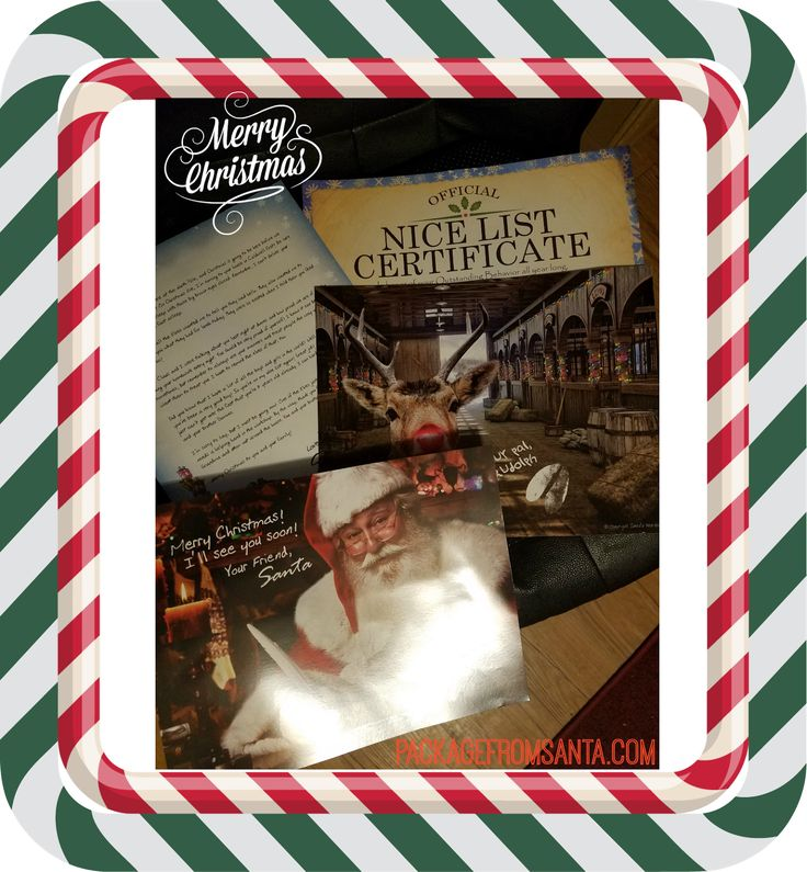 Letter from Santa, personalized package from Santa, North Pole, Photos of Santa, Phone call from Santa