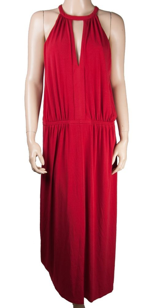 a29989e4193 NEW BCBGeneration BCBG DRESS MAXI GOWN LONG RED DRAPE STRETCH WOMENS M  MEDIUM  BCBGeneration  Gown  AnyOccasion