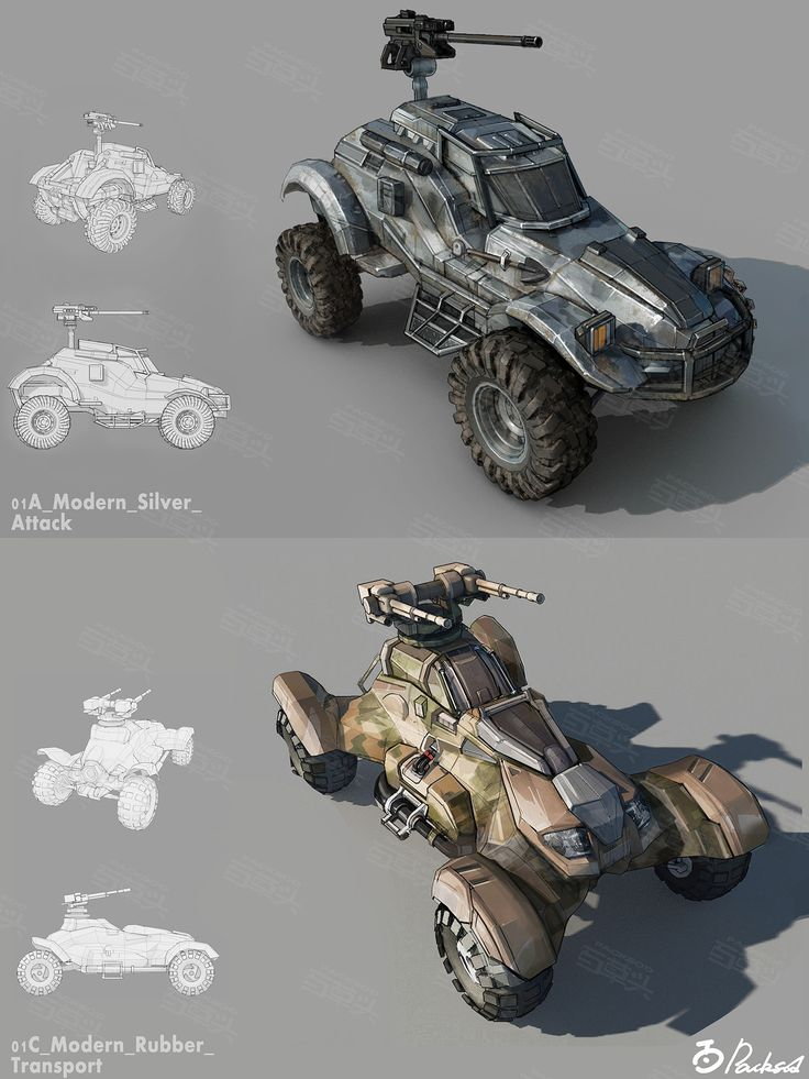 ArtStation - Combat_Vehicle_Designs, Packsod 百草头 ...