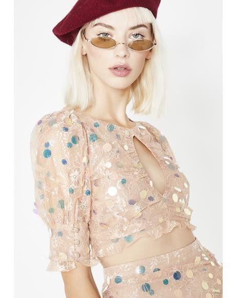 Ace Keyhole Crop Top  dollskill  forloveandlemons  boho  floral  sequins   cutout  top   BRAND KRUSH  For Love   Lemons in 2018   Pinterest   Crop  tops, ... fdac6b34ca4